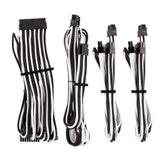 Corsair Premium Individually Sleeved PSU Cable Starter Kit Type 4 Gen 4 Black/White