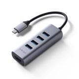 Minix Neo-C-UH USB-C to USB Multiport Adapter Grey